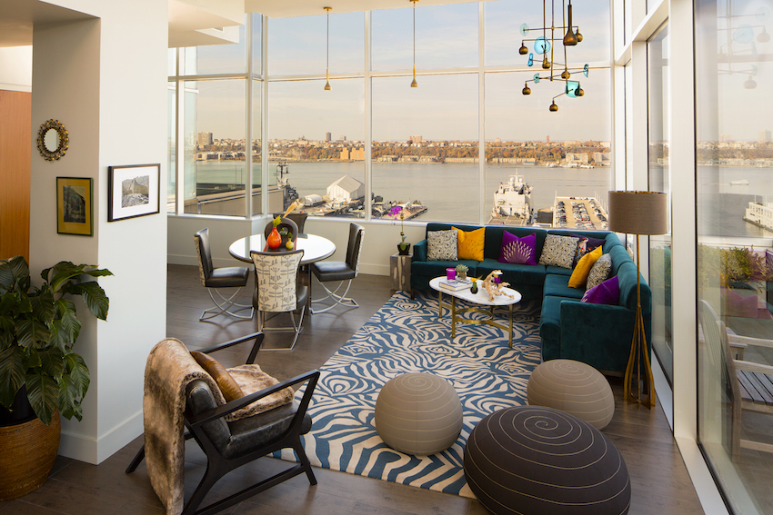 Ink48 living room Heaven Over Hell penthouse