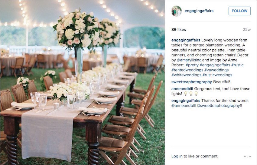 Rustic tent wedding reception Engaging Affairs