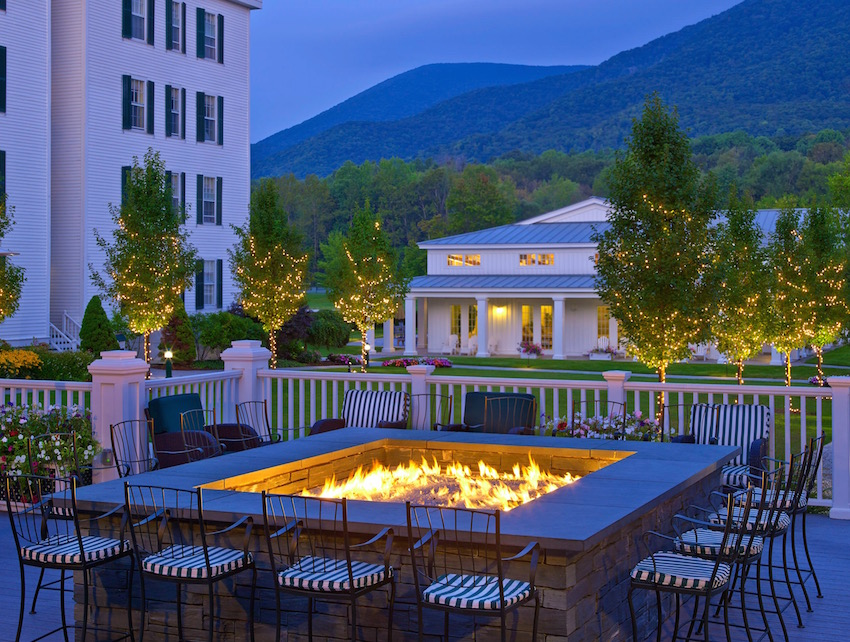 Falcon Bar Fire Pit at The Equinox Vermont