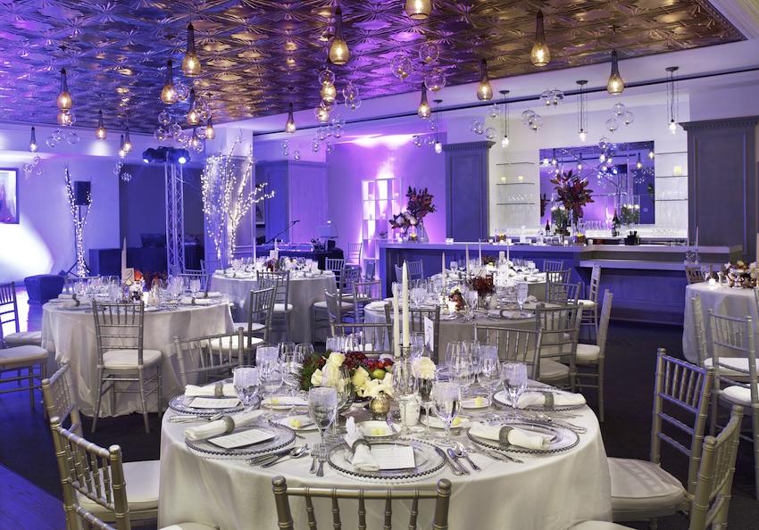 St Regis Aspen purple wedding reception
