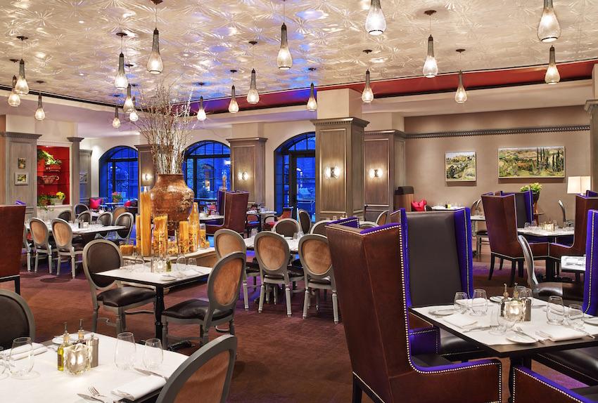 Restaurant at St Regis Aspen wedding