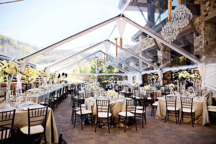 Tent wedding reception at St Regis Deer Valley