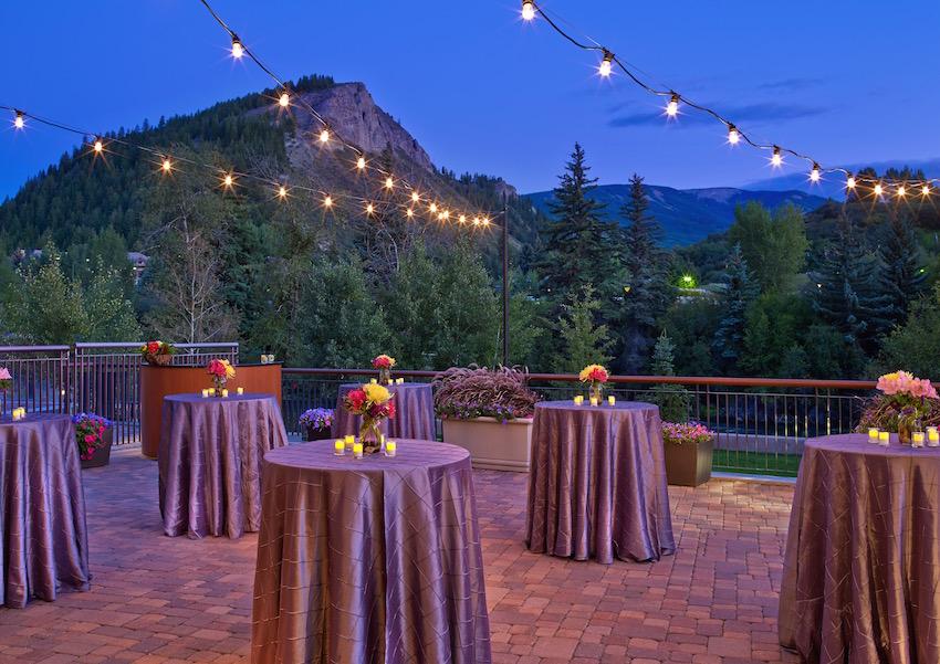 Terrace wedding at Westin Riverfront Beaver Creek