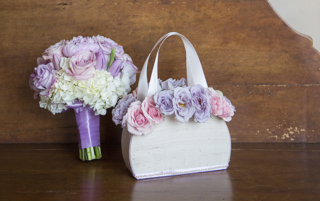 wooden flower girl purse