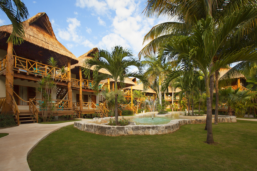 Jungle rooms at Mahekal Beach Resort