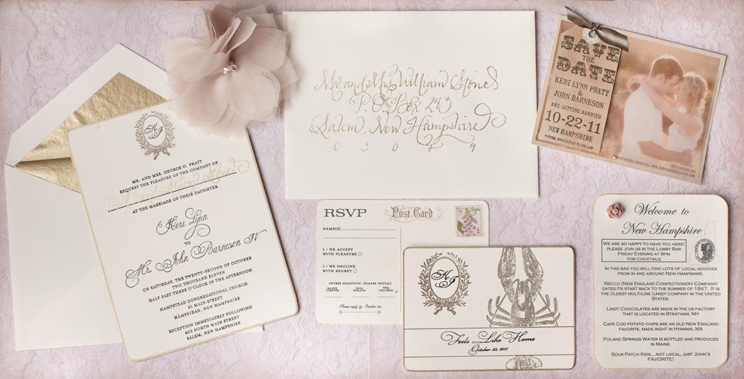 brown rustic invitations