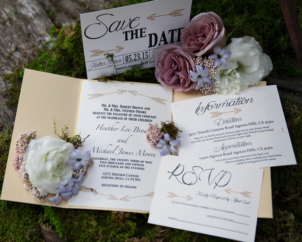 robin hood rustic invitations