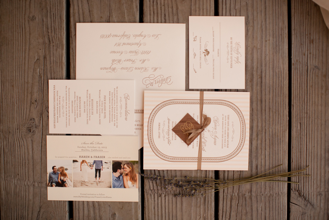 wood design invitations