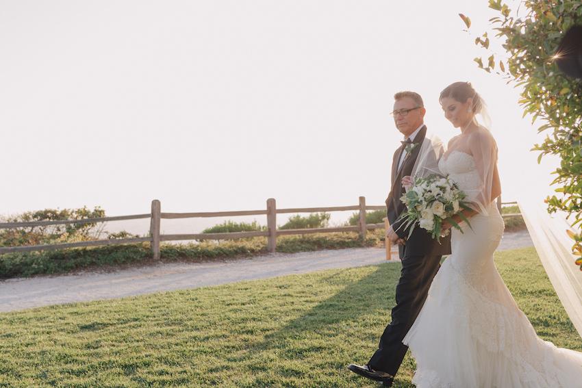 Lauren Kitt with father of bride at Nick Carter wedding