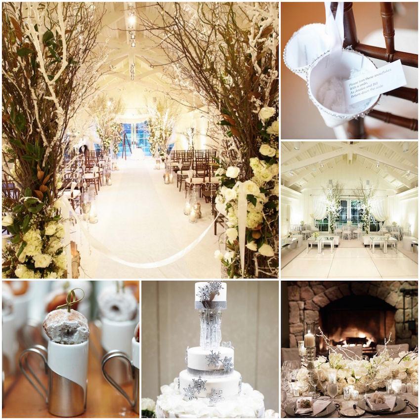 White winter wedding ideas