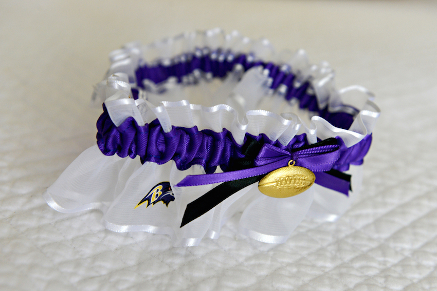Baltimore Ravens wedding lingerie garter