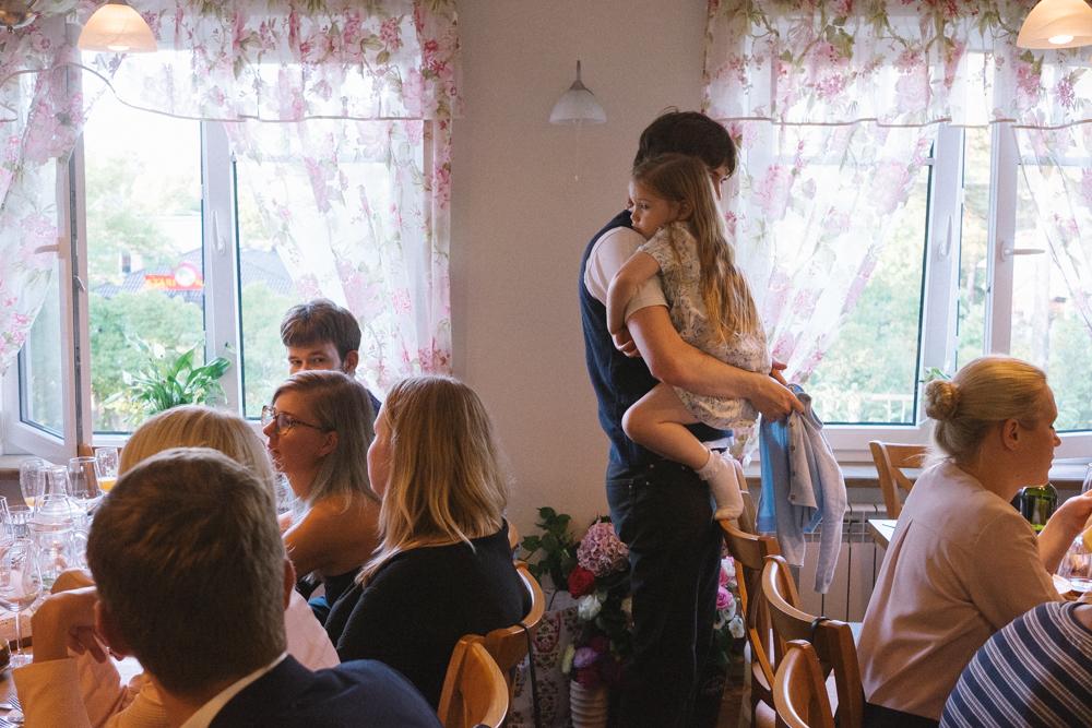family at reception