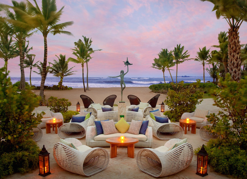 Sunset seating area at The St. Regis Bahia Beach Resort