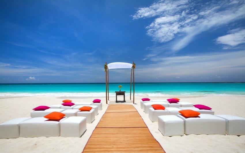 The Westin Cancun beach wedding