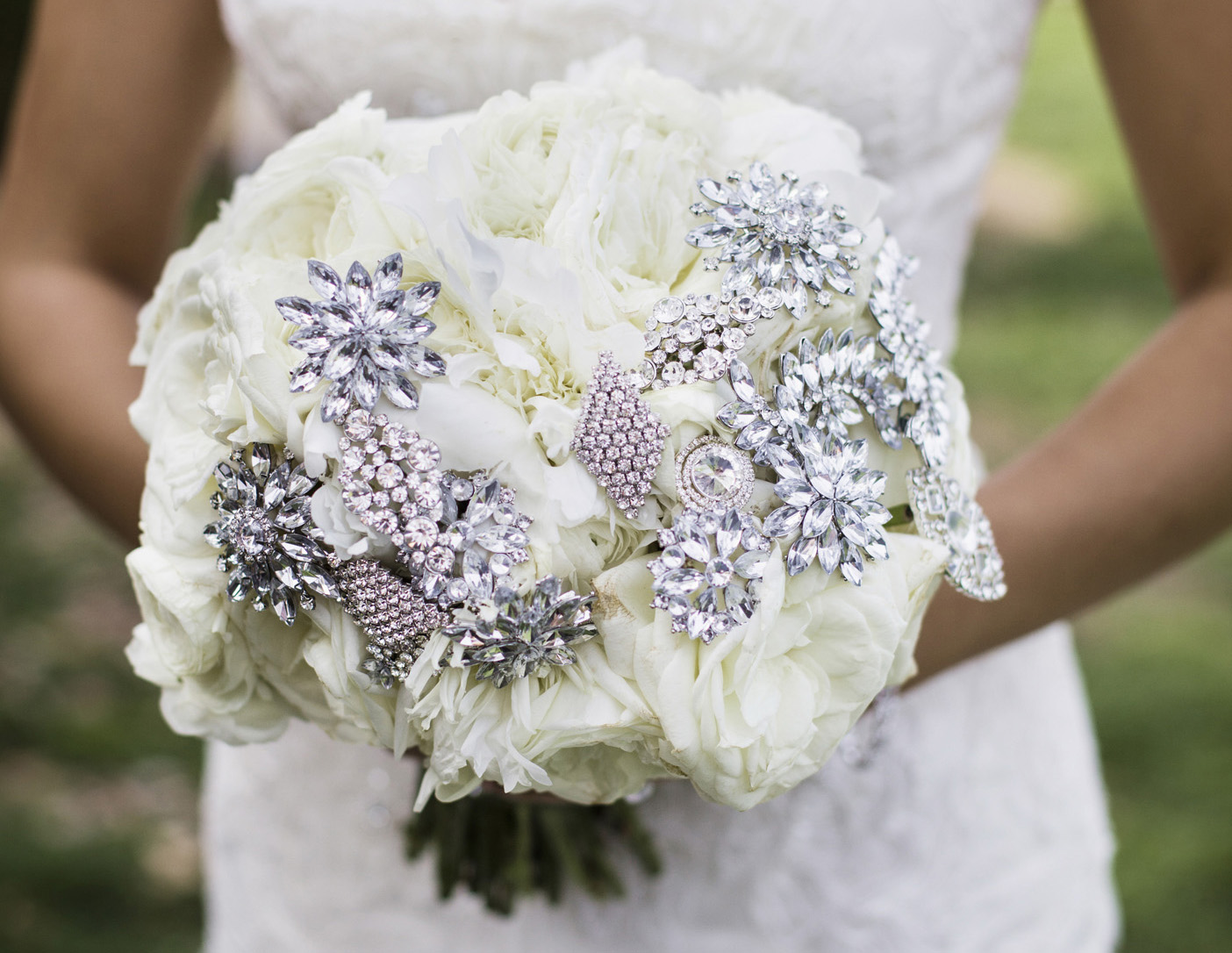 bouquet with jewels
