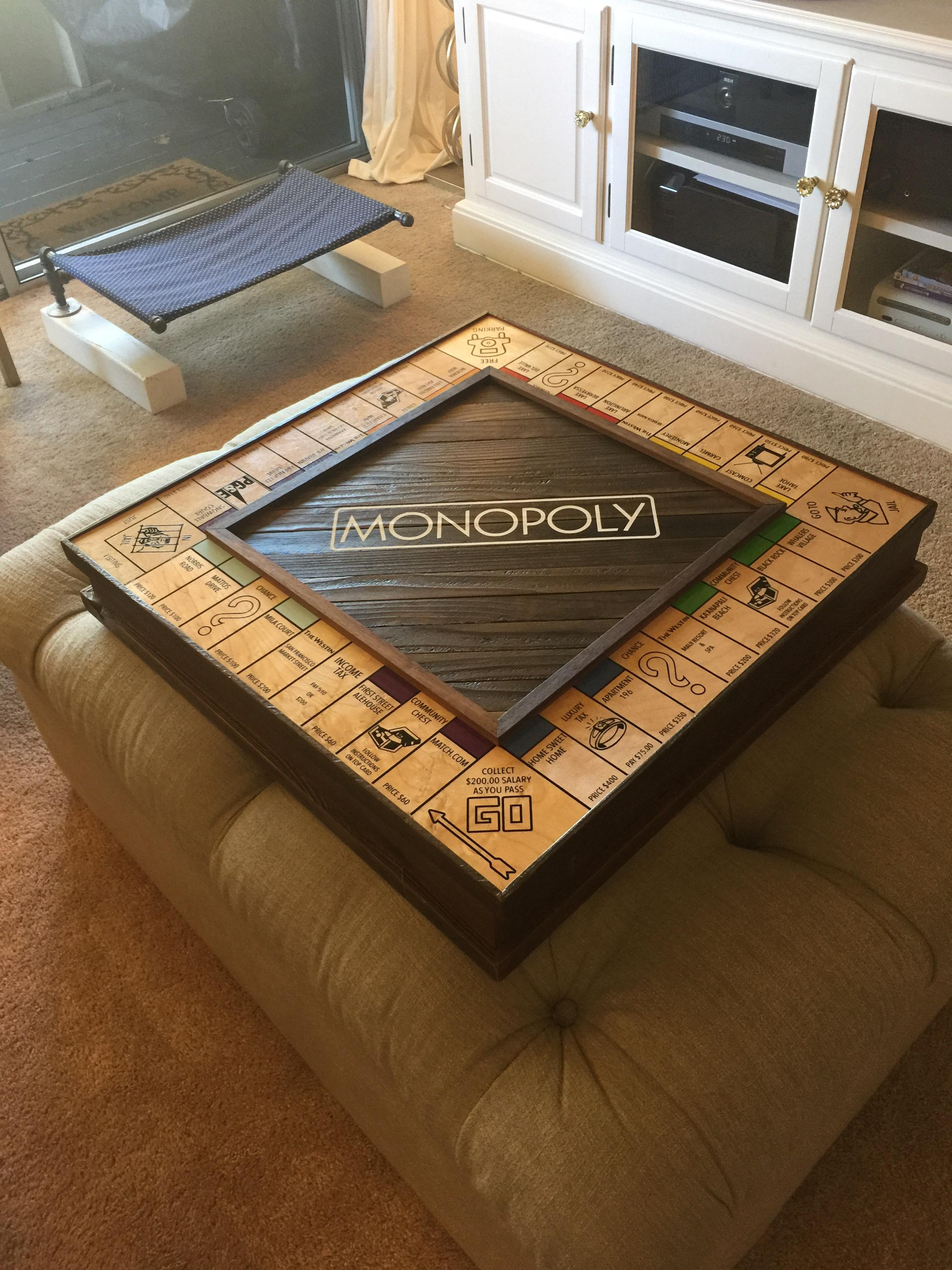 homemade monopoly board