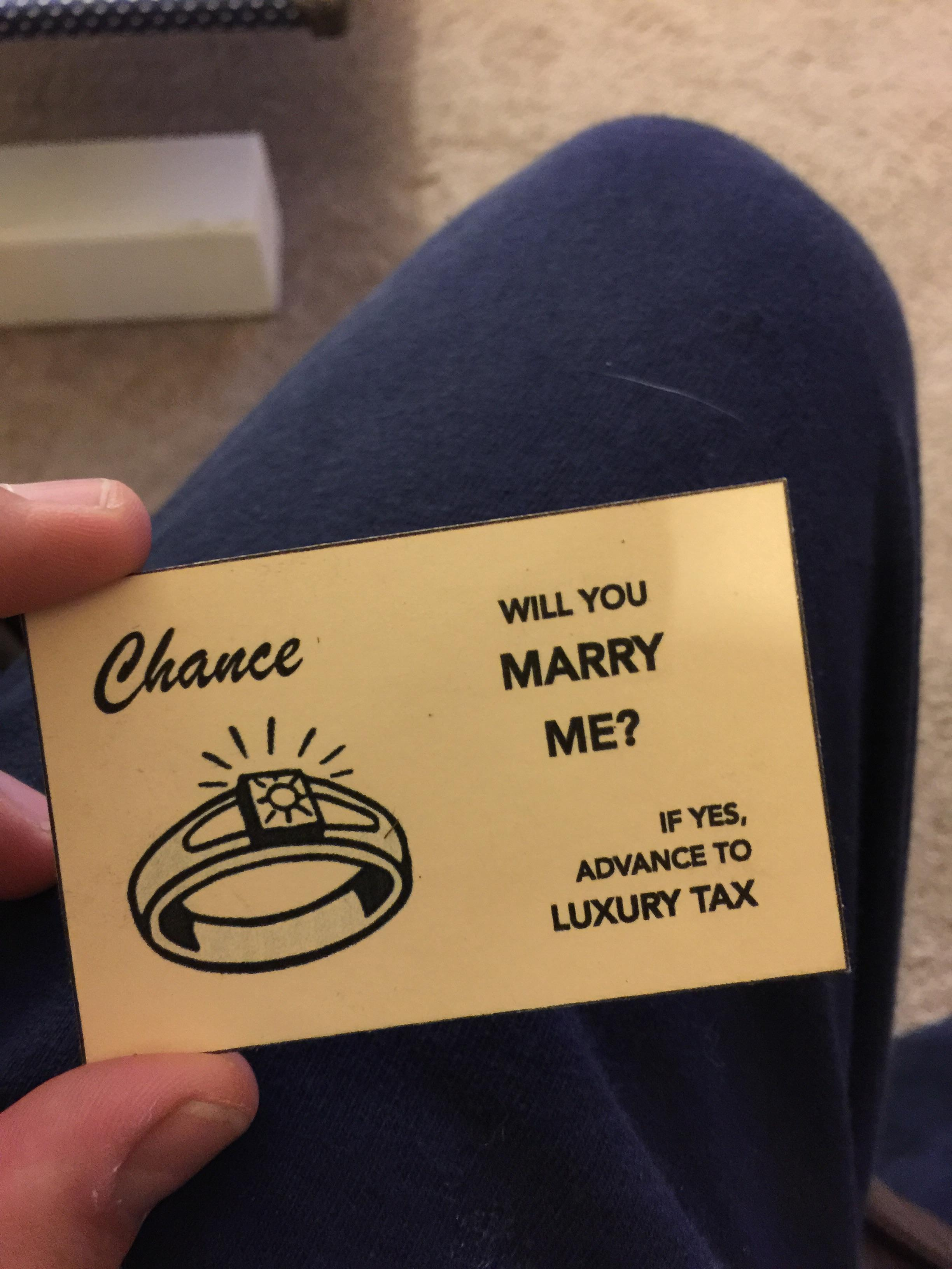 marry me chance card