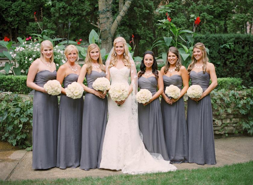 gray long dresses