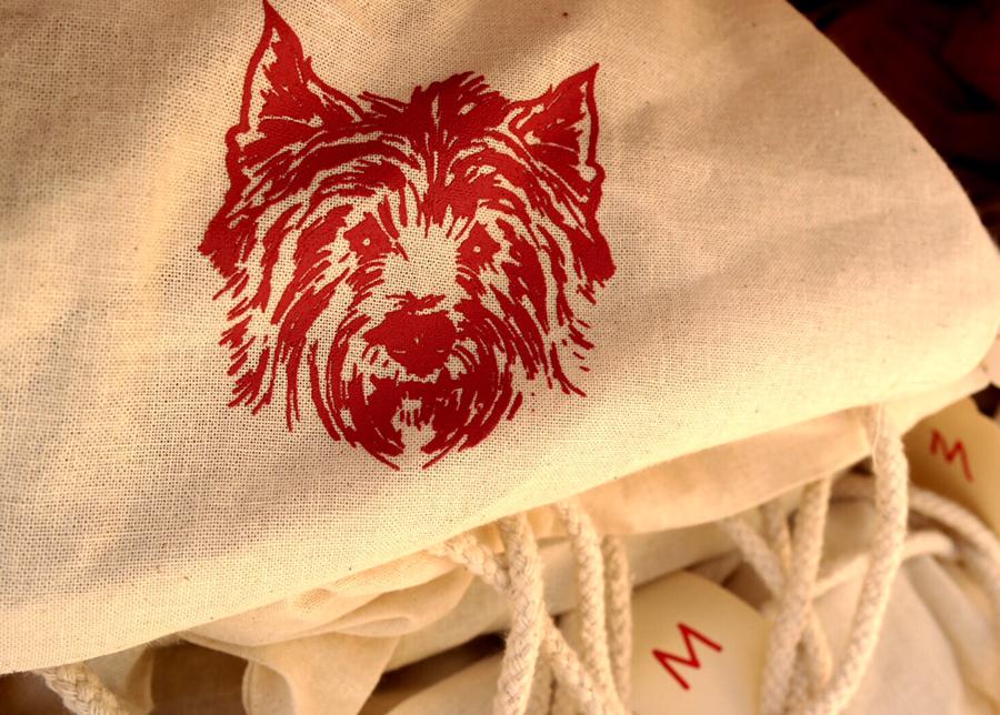 dog favor bag