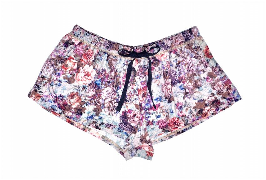 Alexis Mera Flower Print Breast Cancer Awareness Shorts