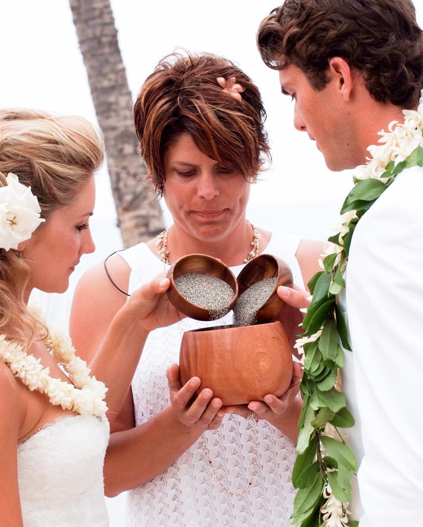 hawaiian sand ceremony