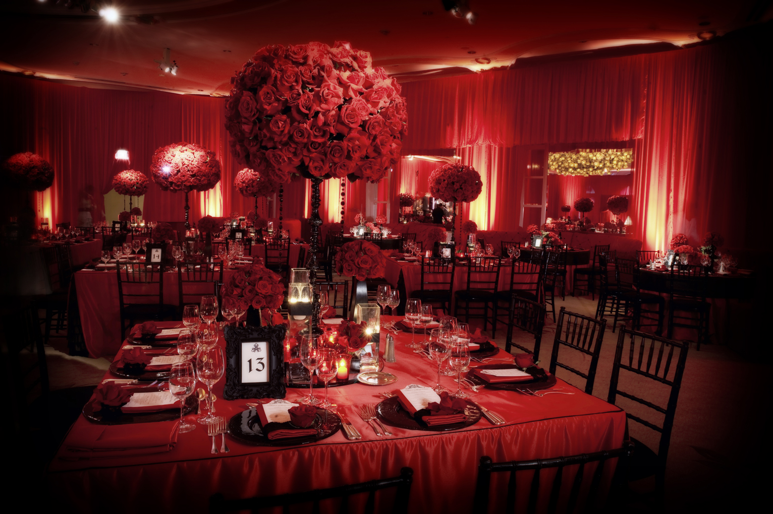 red and black reception
