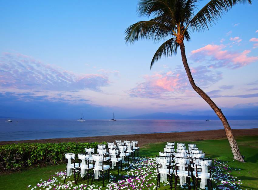 Ocean Front Lawn Ceremony Westin Maui