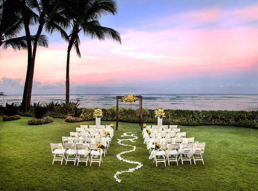 Wedding Diamond Lawn at Moana Surfrider