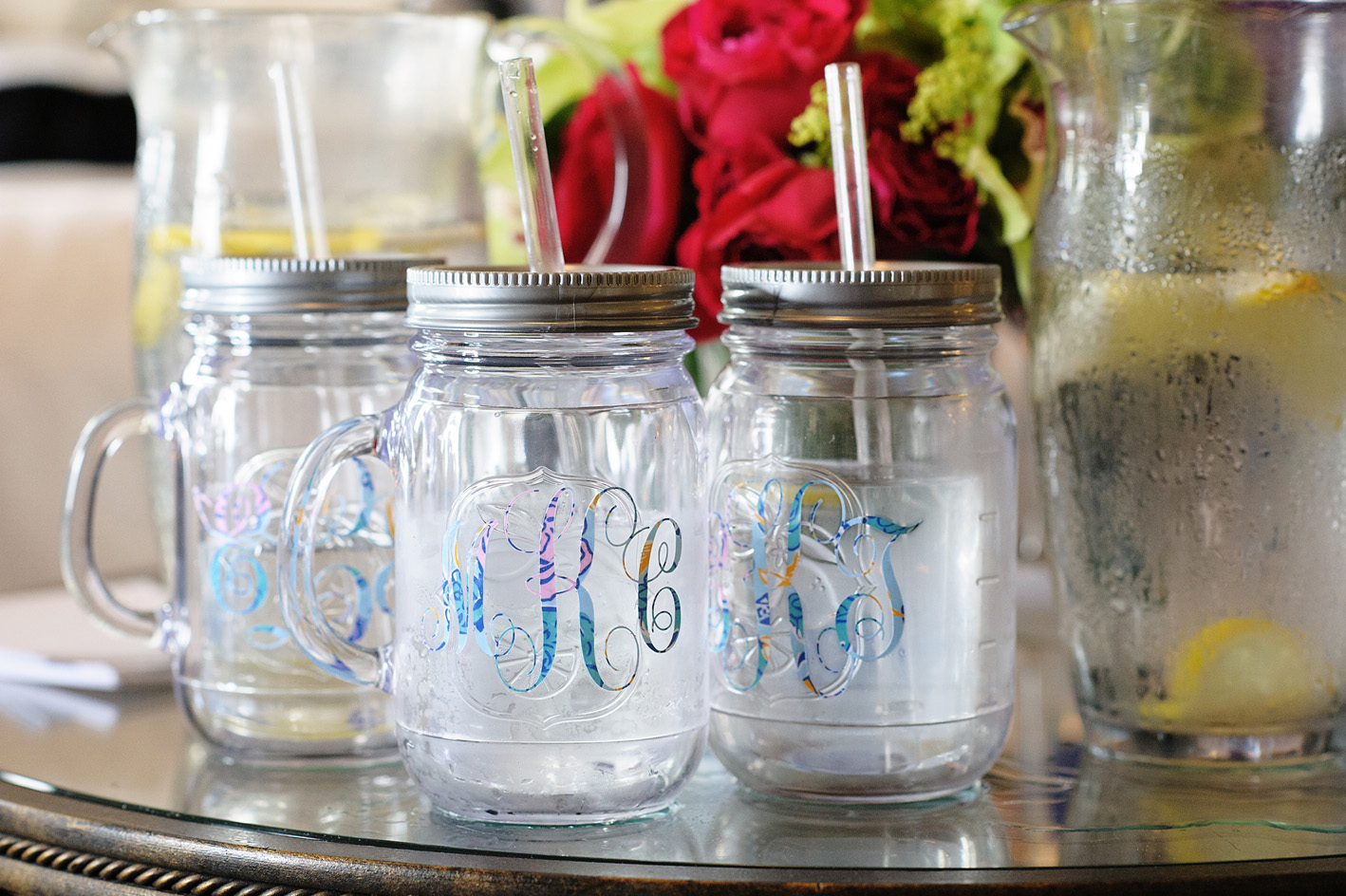 monogram mason jars