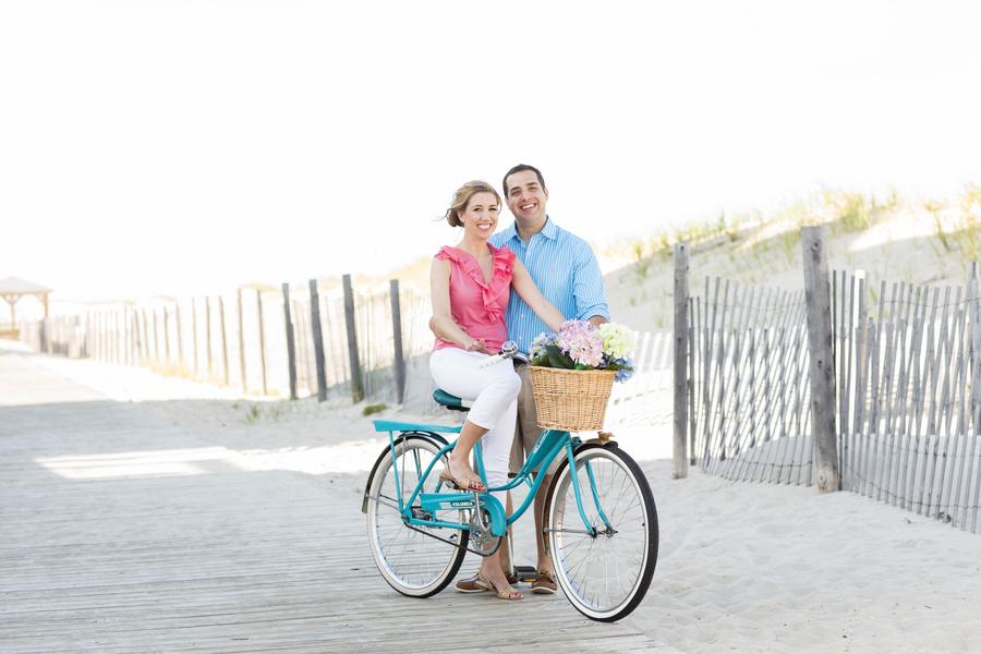 East Coast Engagement Session on Bike