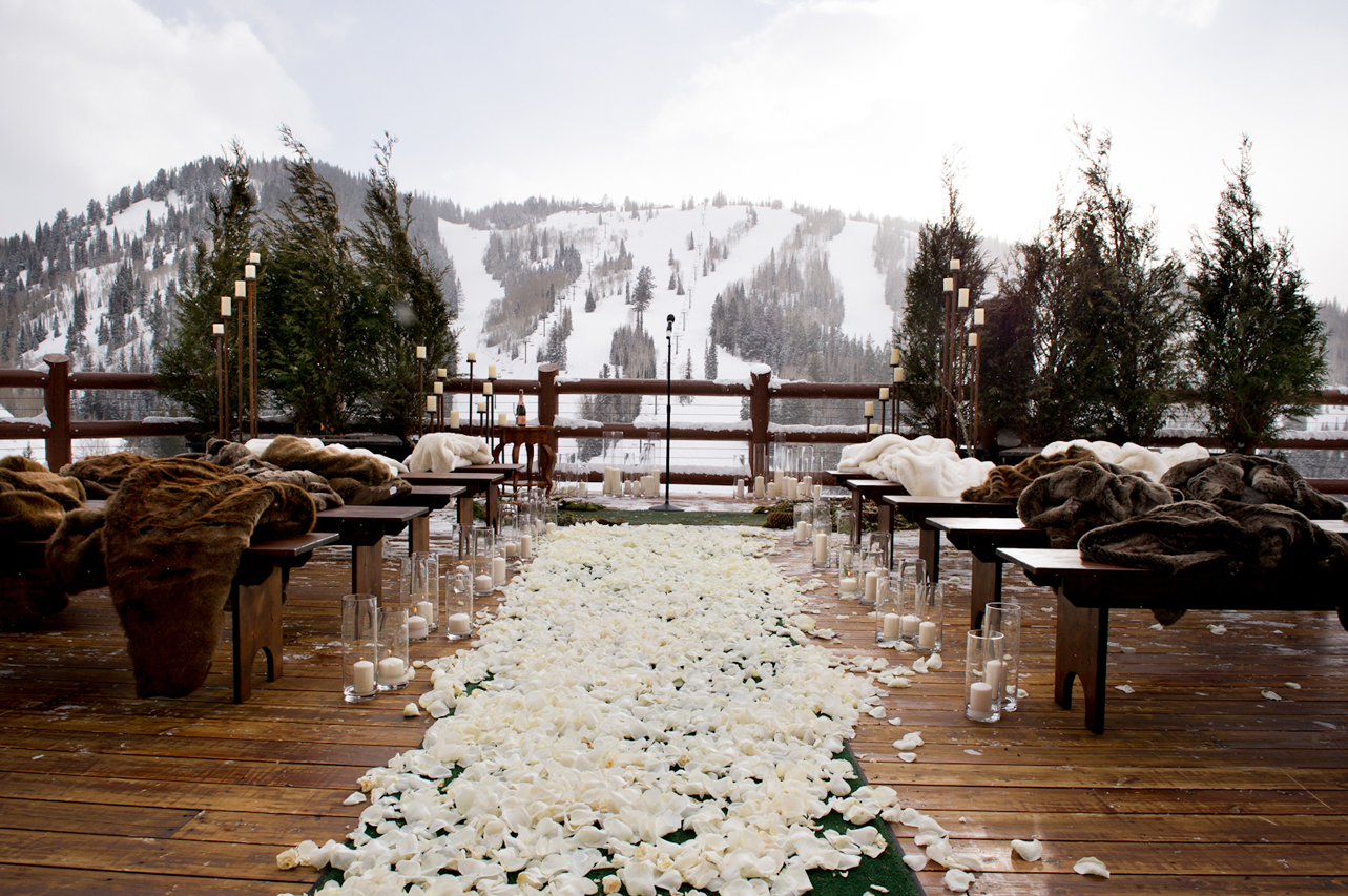 snowy ceremony