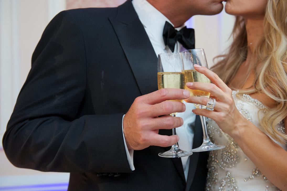 toasting couple