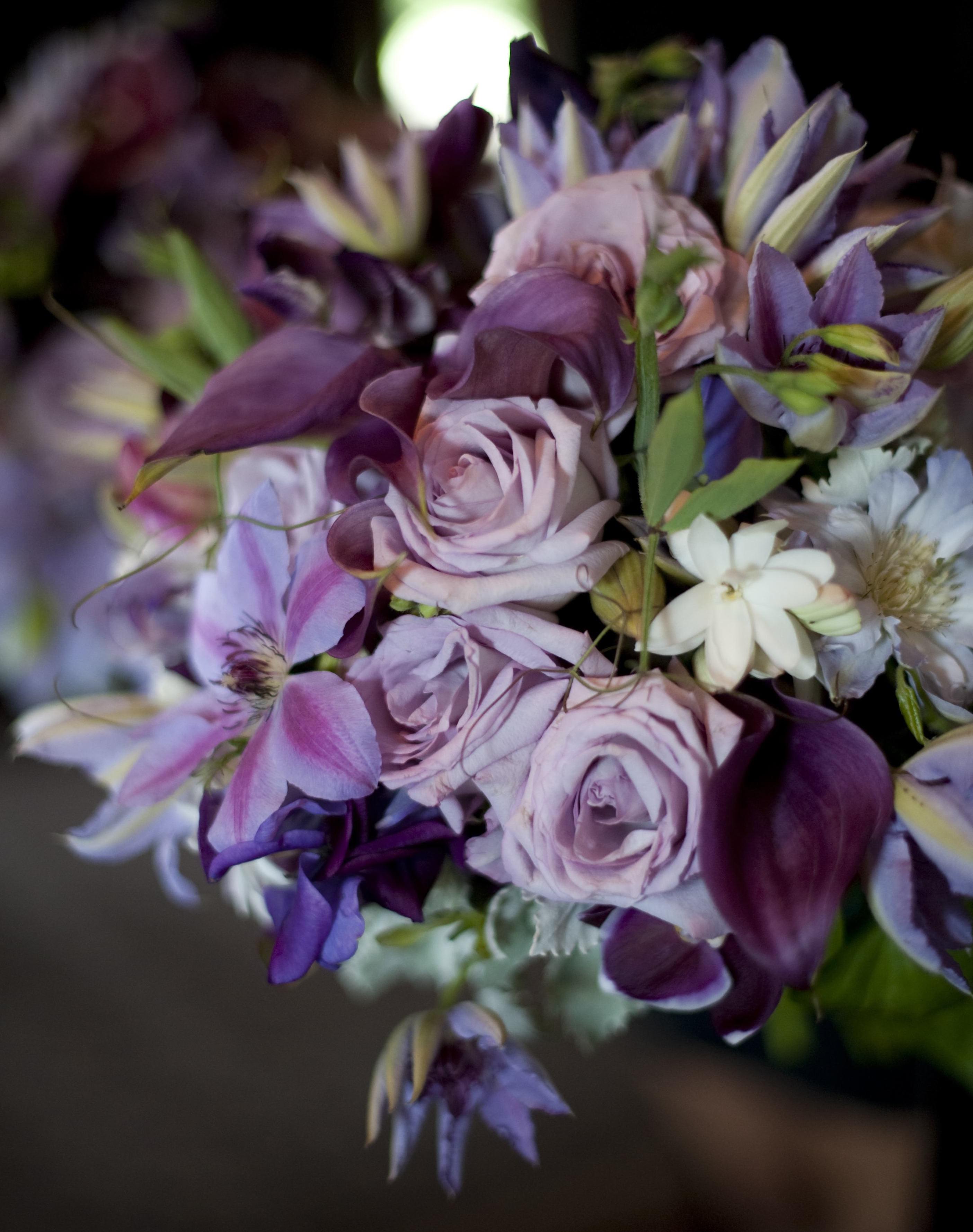 Lush organic purple bouquet