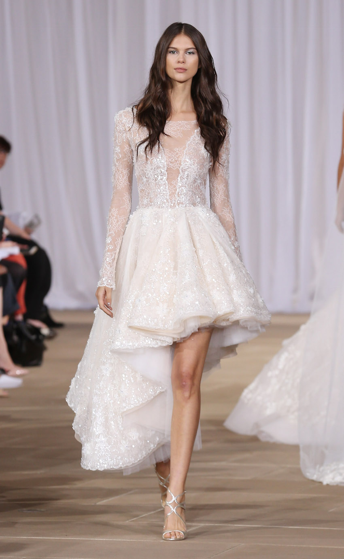 ines di santo high low wedding dress