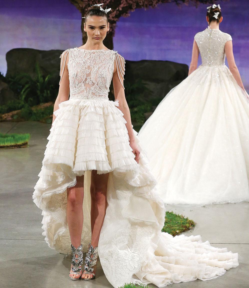 ines di santo breeze high low wedding dress