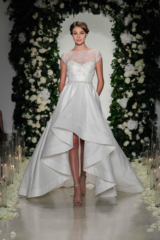 anne barge high low wedding dress