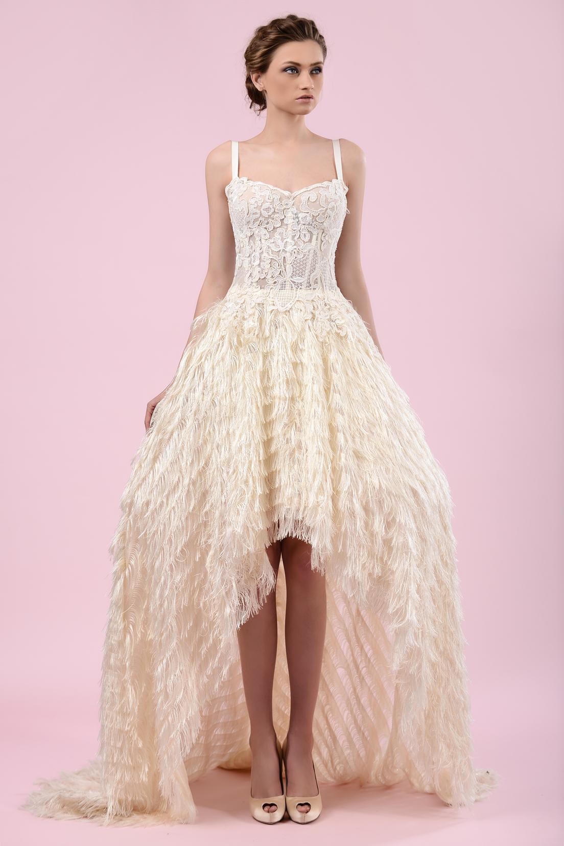 gemy maalouf high low wedding dress