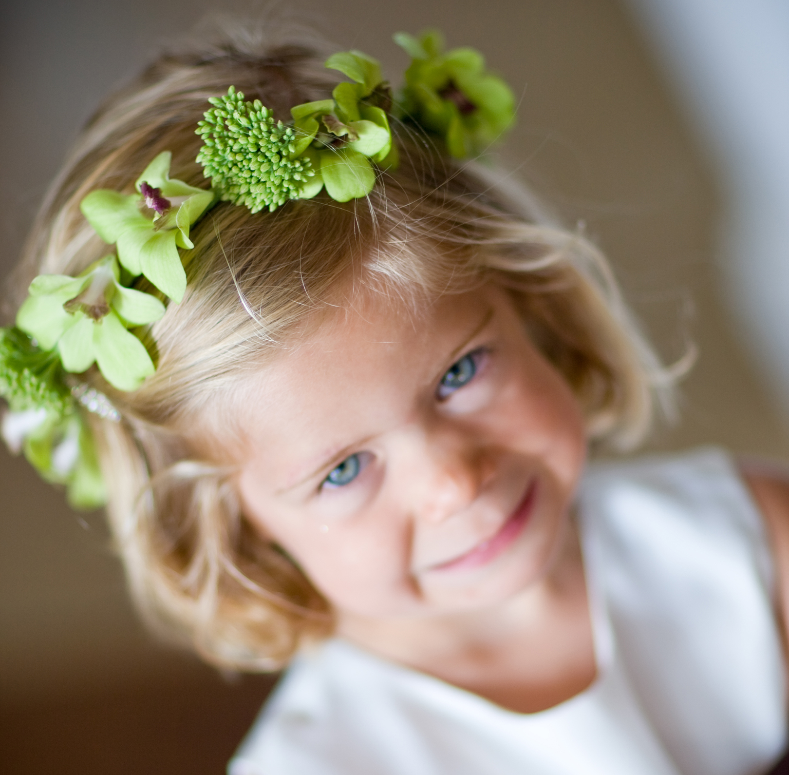 green flower crown