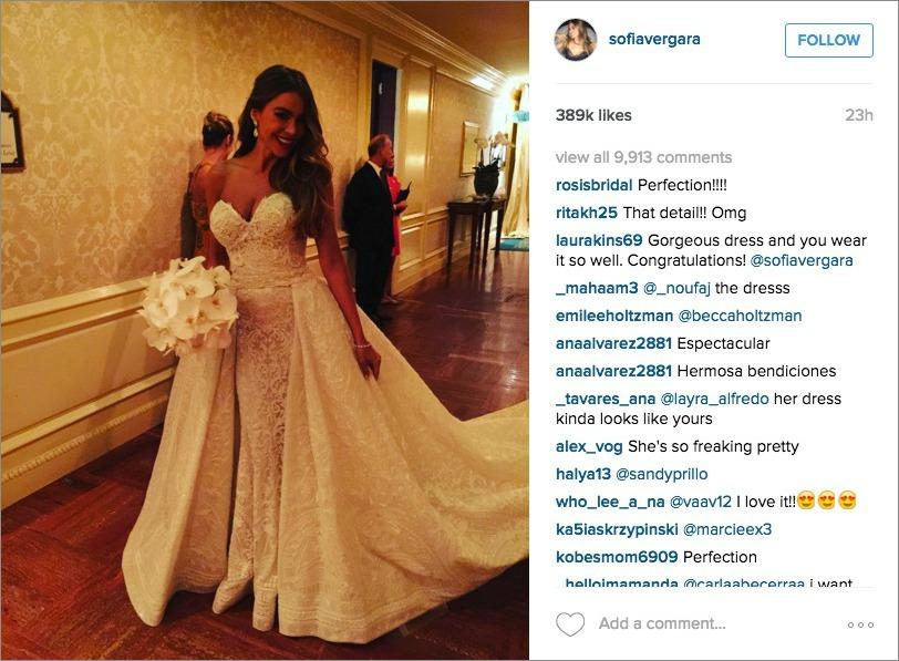 Sofia Vergara wedding dress