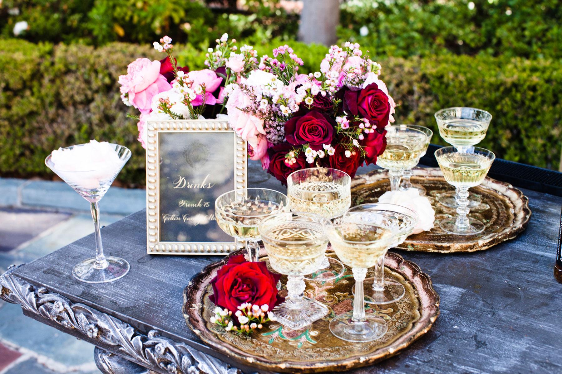 Nikki Sixx Motley Crue wedding champagne station