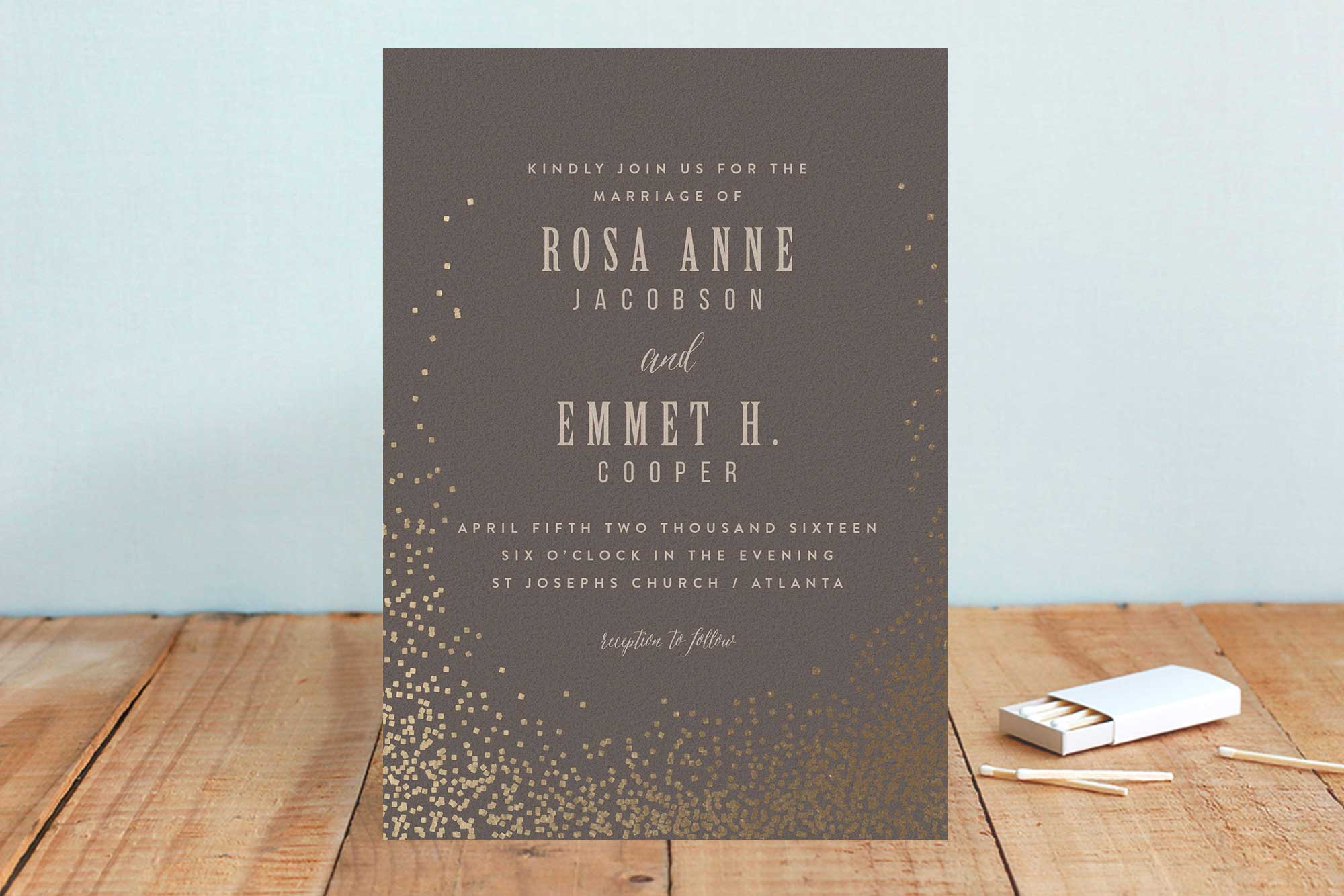 Minted winter wedding invitation ideas
