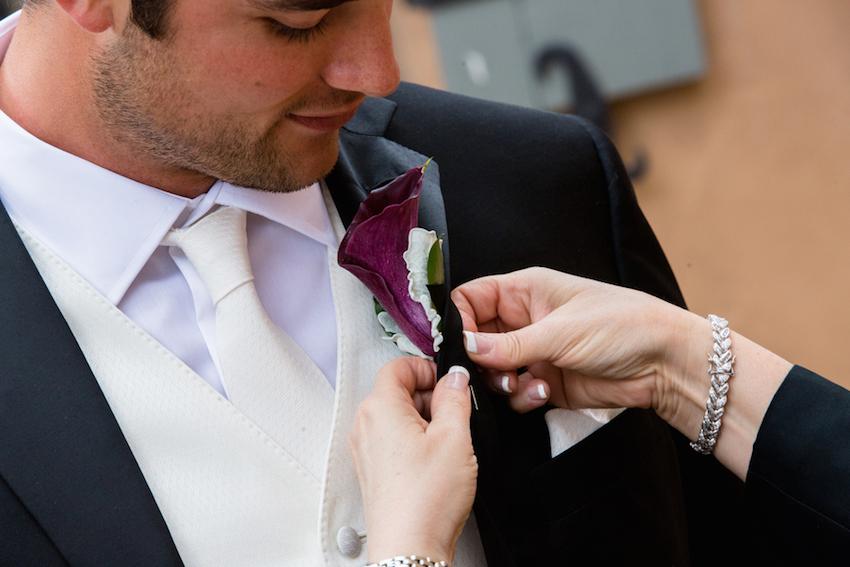 Brock Osweiler wedding boutonniere