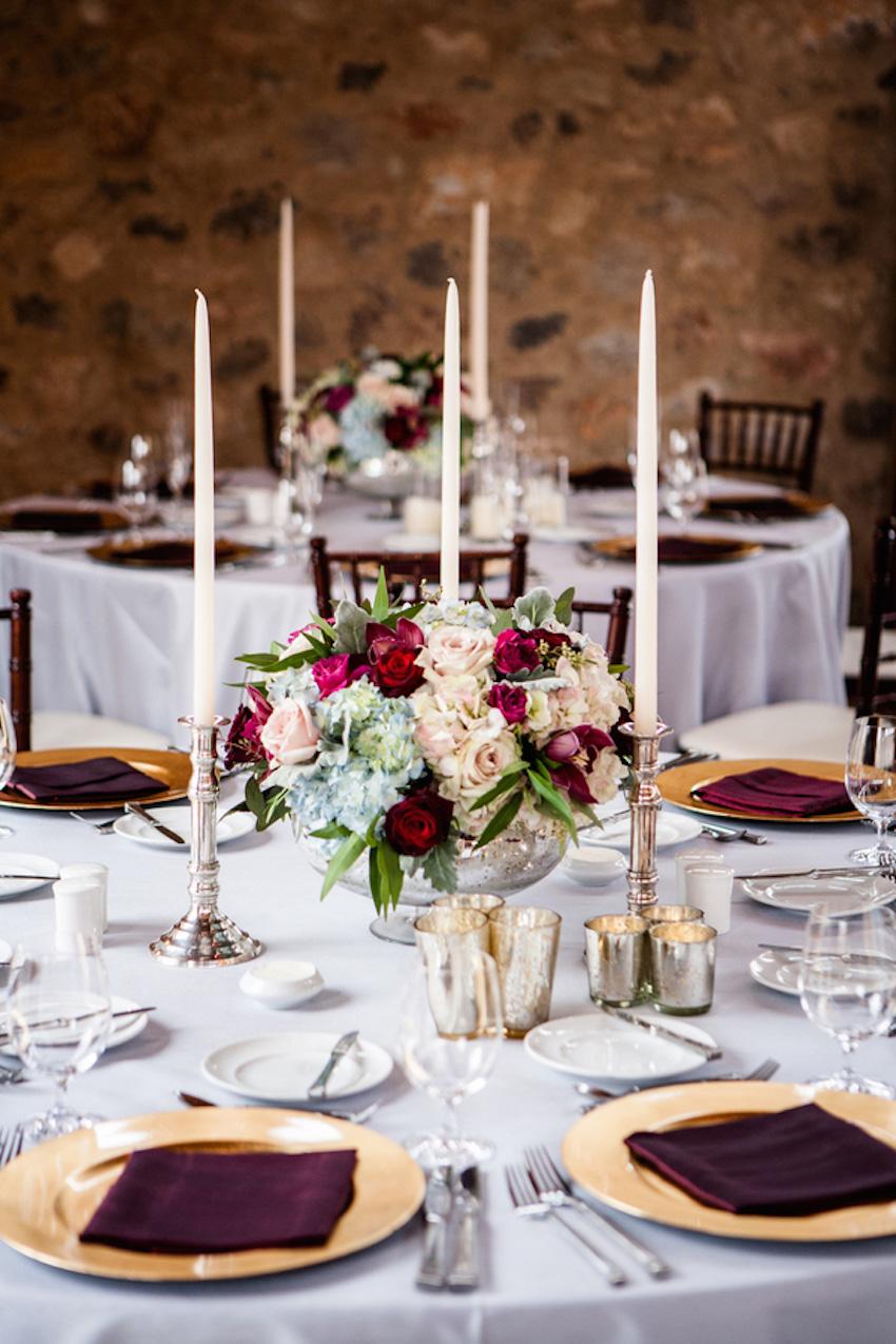 Brock Osweiler wedding reception table decorations