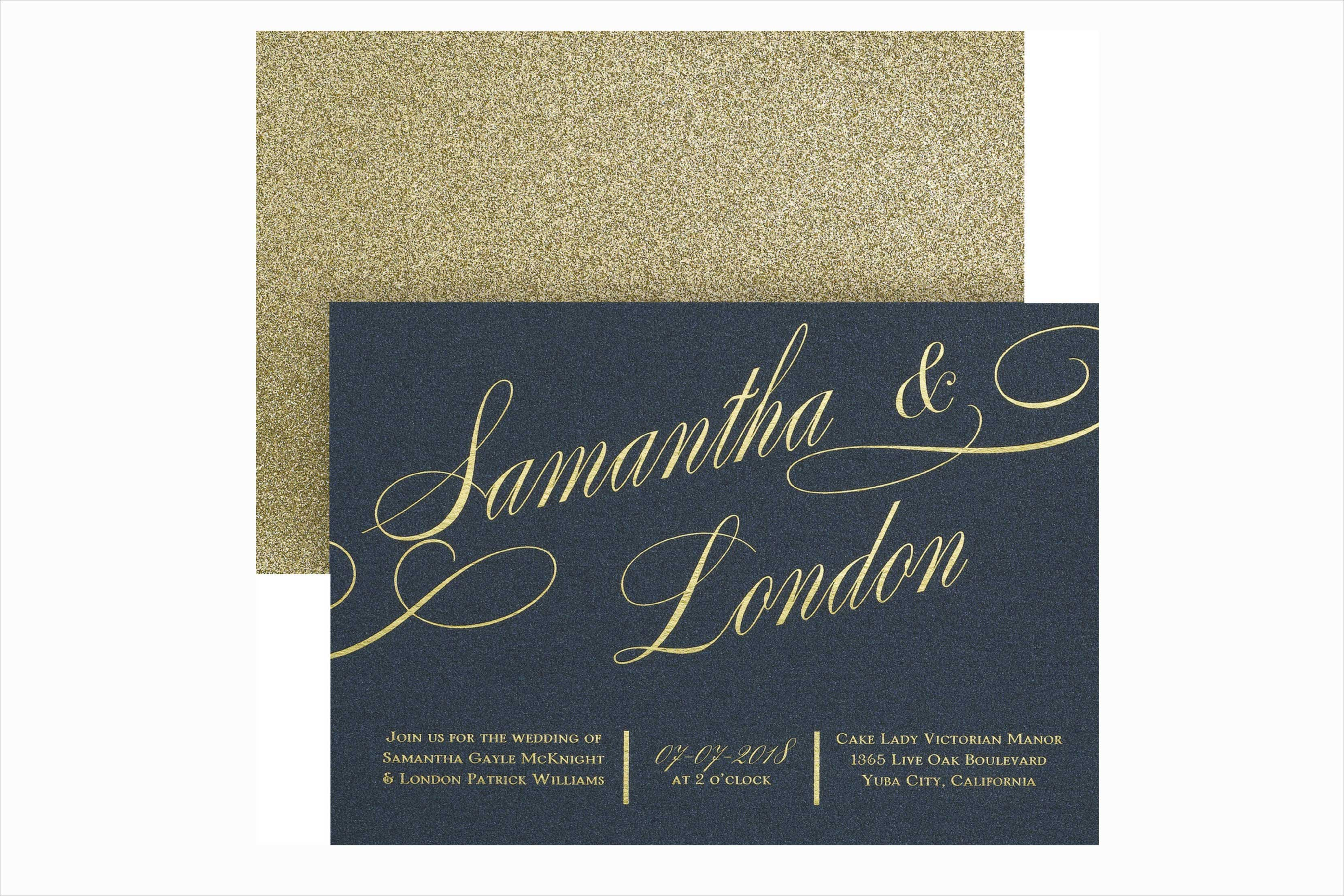 Carlson Craft It All Shimmers winter wedding invitation