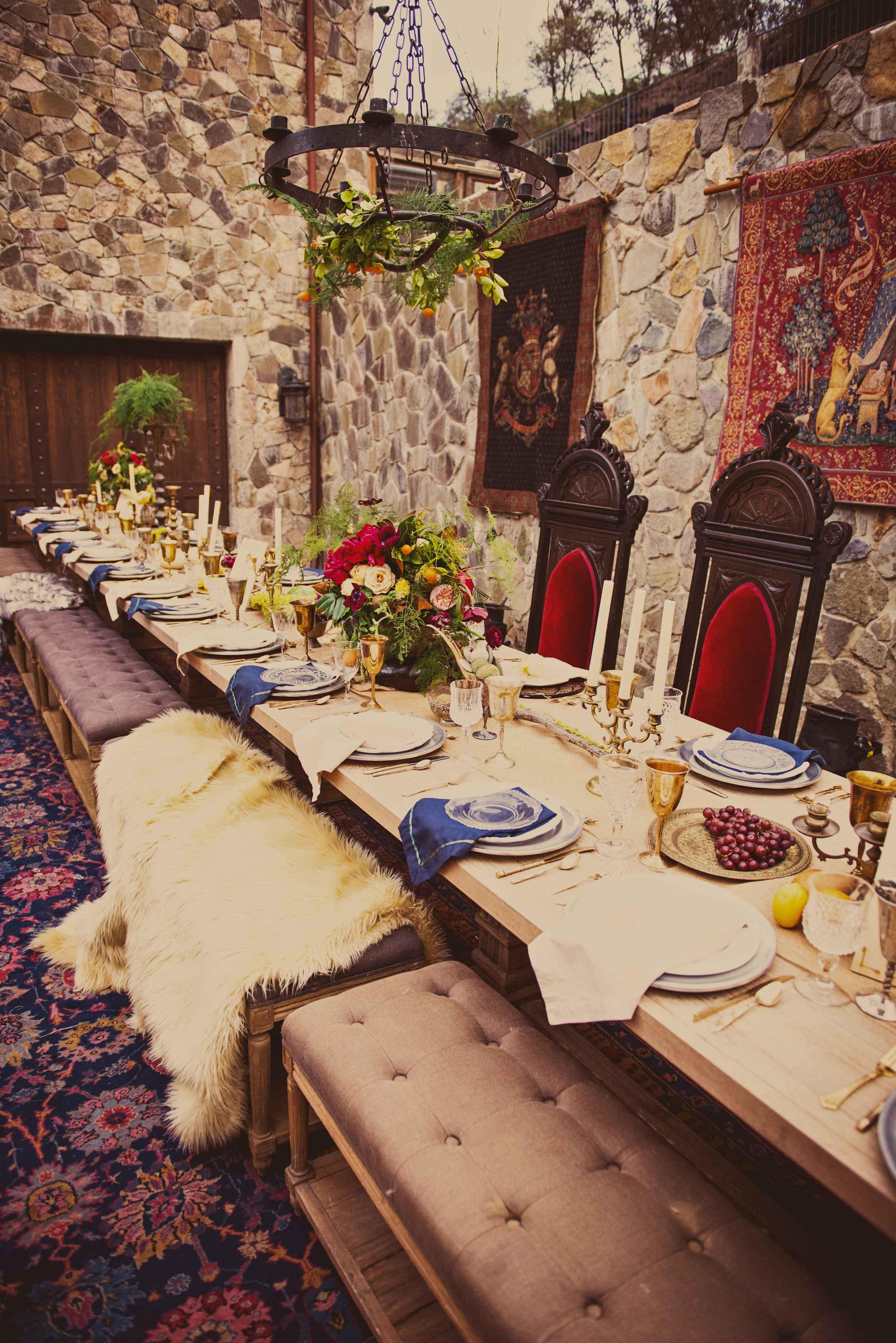 Medieval theme wedding reception