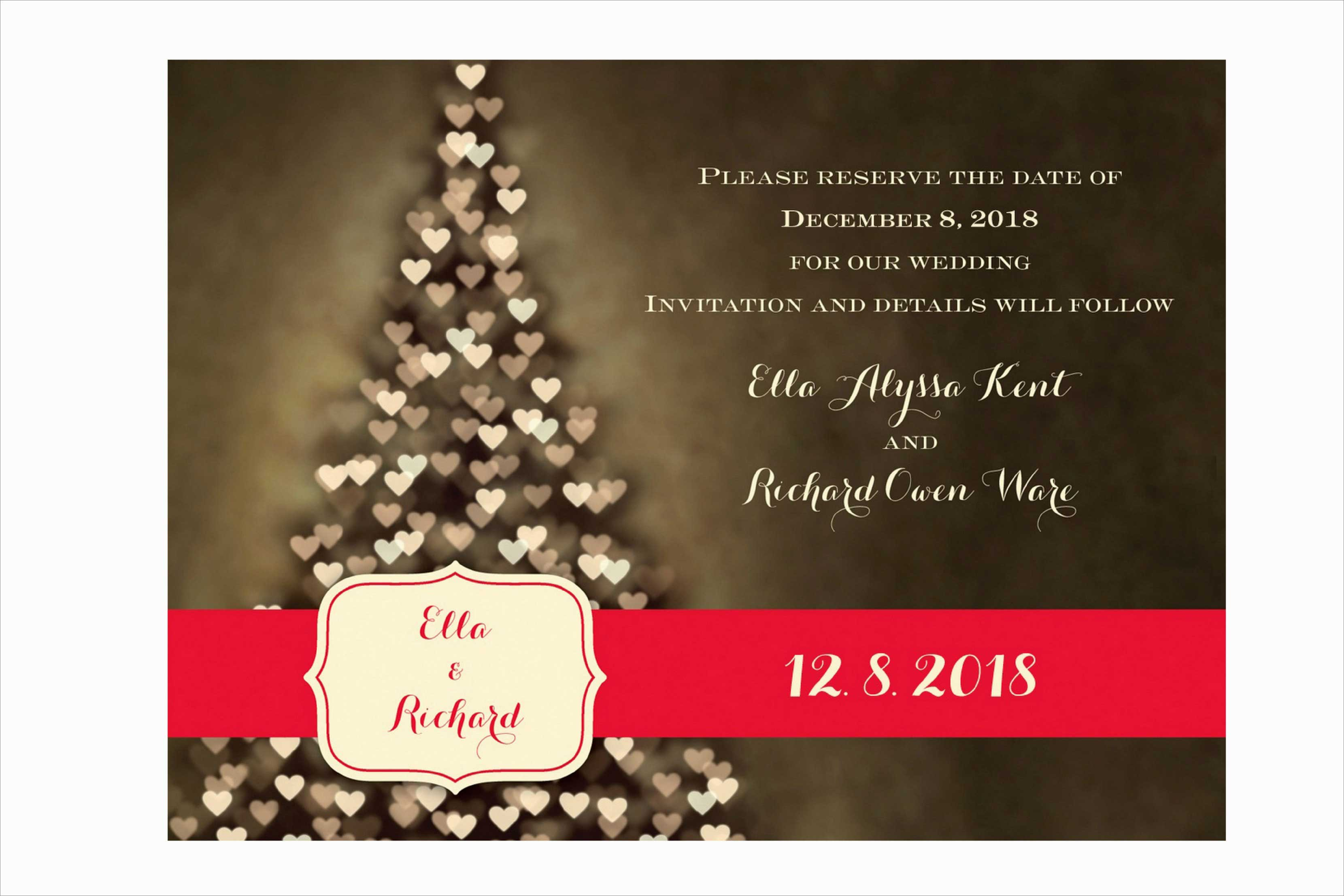 Carlson Craft Merry Hearts save the date invitation