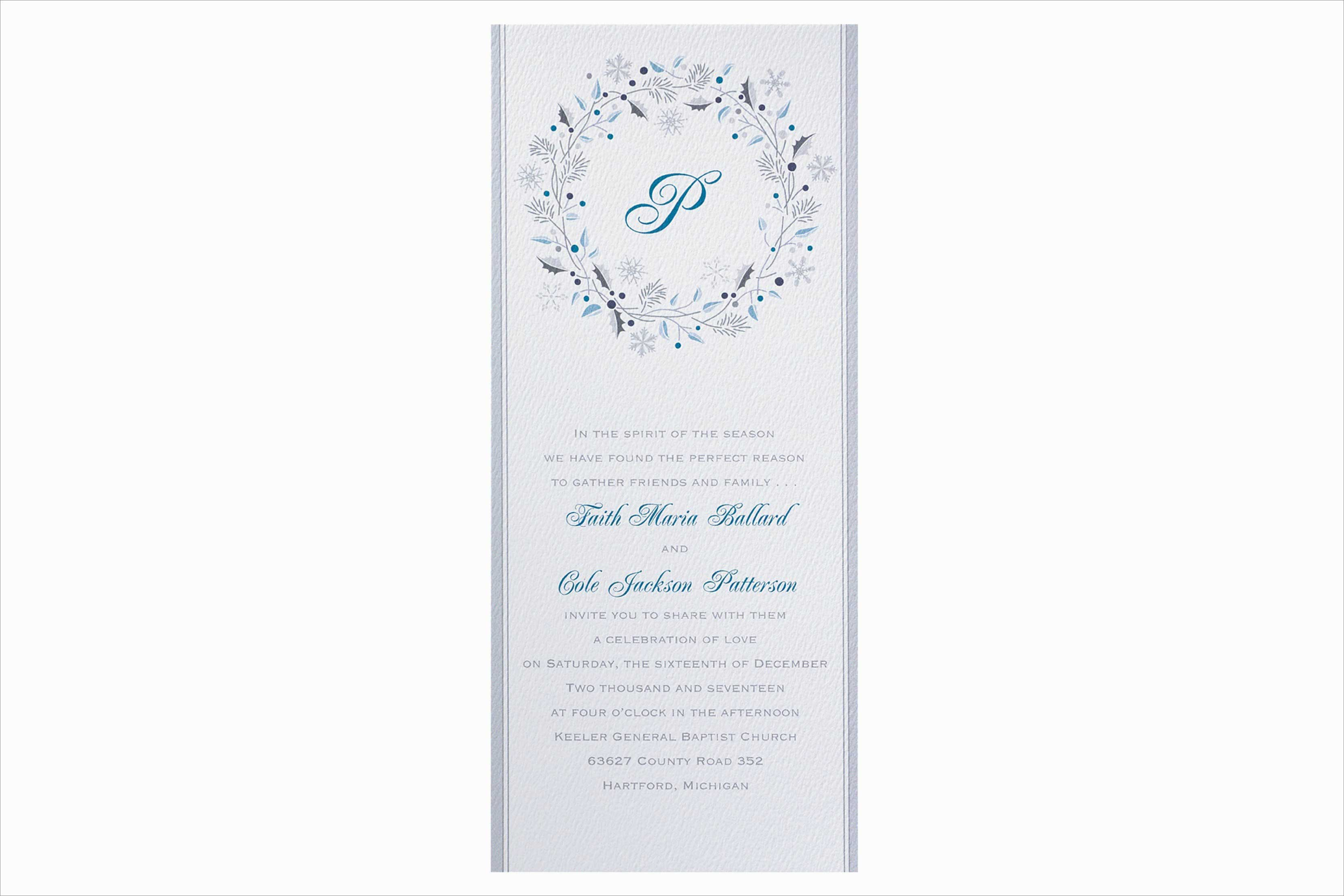 Carlson Craft Season's Joy winter wedding invitation