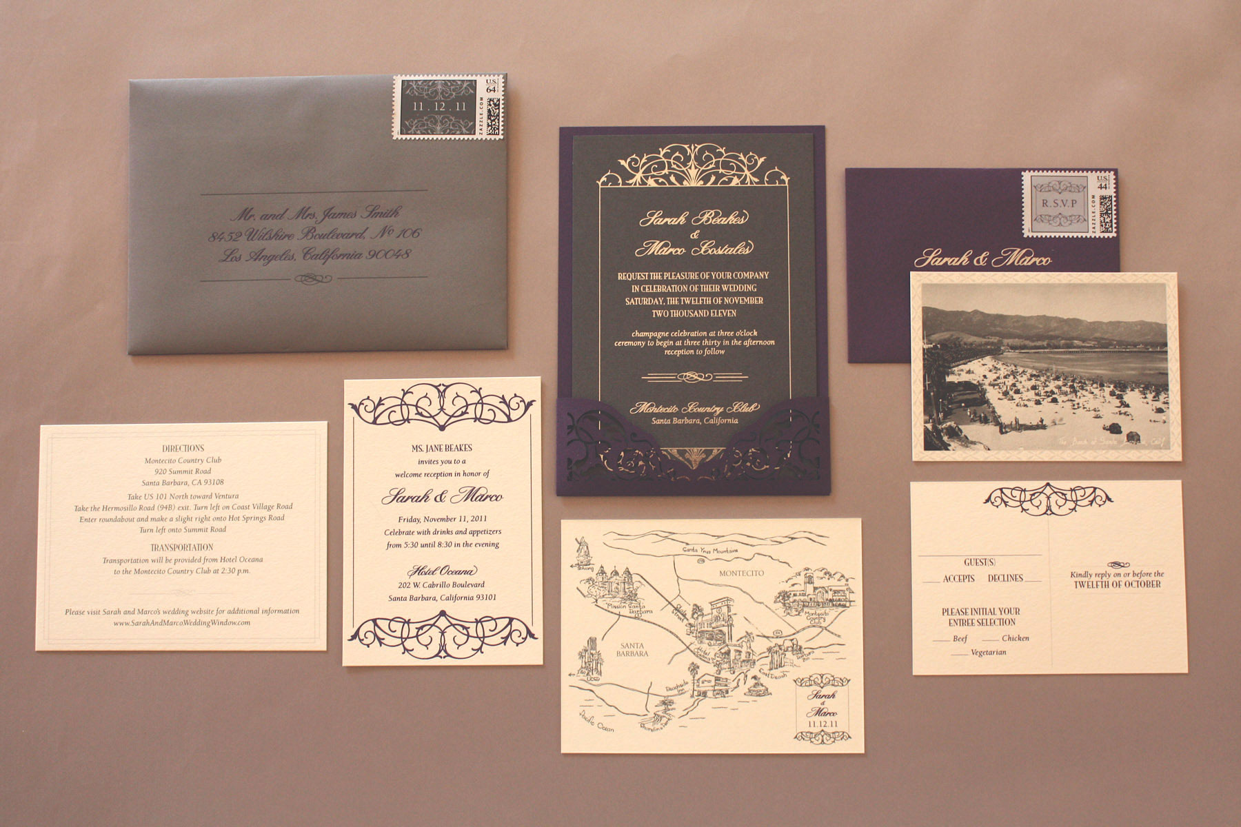 Zenadia Design winter wedding invitation ideas
