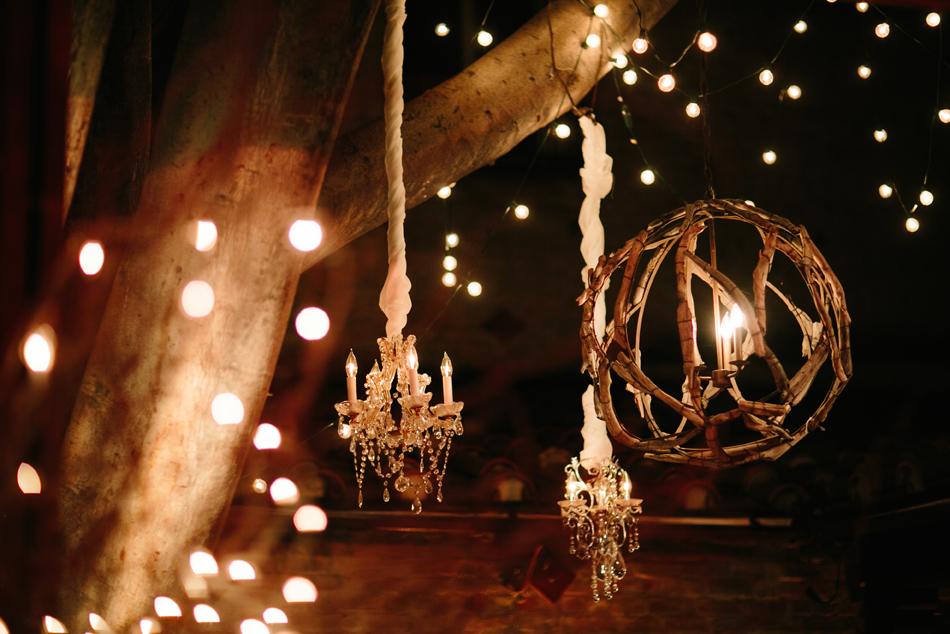 lightbulb inside a globe of twigs
