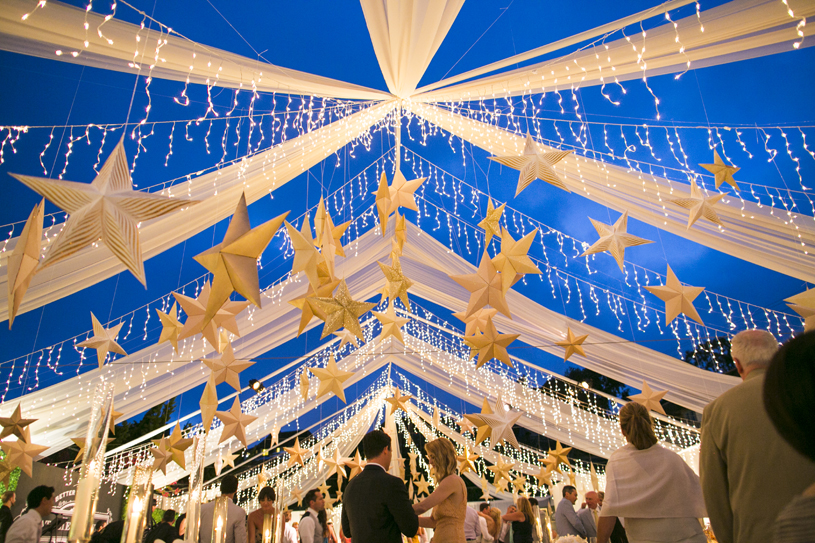 string lights and stars decorations